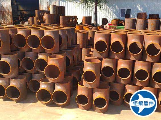 国标等径碳钢三通管件批发