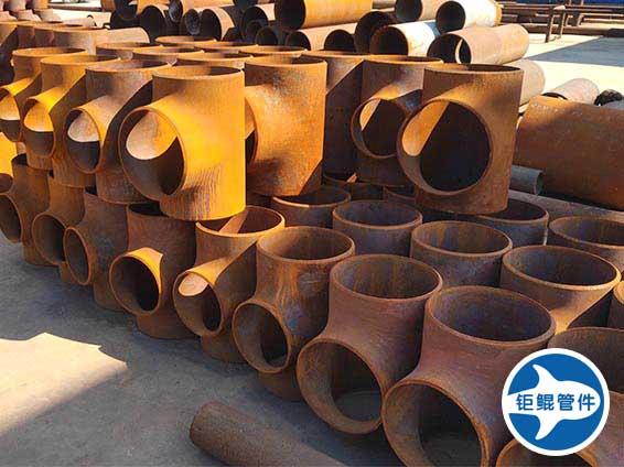 电标大口径碳钢三通管件